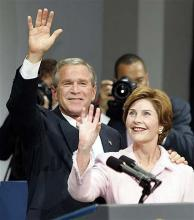 Laura Bush: Shoe-throwing was an assault