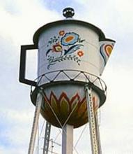 Water Tower Coffee Pot, Stanton, Iowa