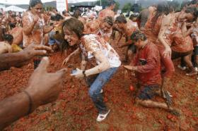Tomato fight in Colombia