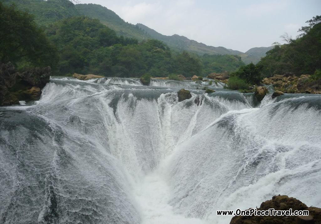 Huangguoshu Falls  is the largest waterfall in China and Asia located on the Baihe River  in Anshun, Guizhou Province
