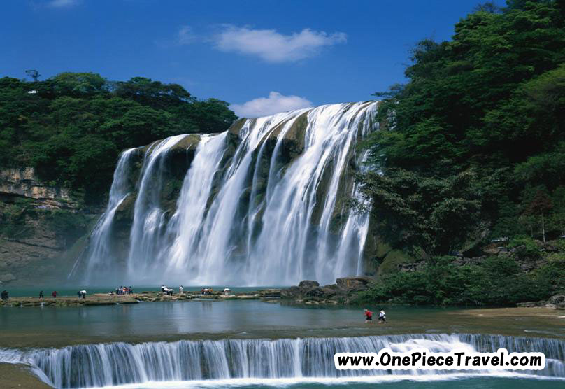 Huangguoshu Falls  is the largest waterfall in China and Asia located